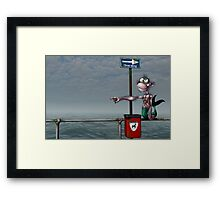 Sea Monkeys are Proper Stupid Creatures Framed Print