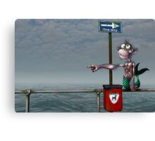 Sea Monkeys are Proper Stupid Creatures Canvas Print