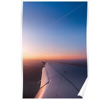 Sunrise from a plane vertical Poster