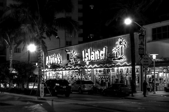 Corner of Collins Avenue and Lincoln Road on Miami Beach in Florida by Jeremy Lavender Photography