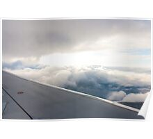 Top of the clouds from a plane Poster