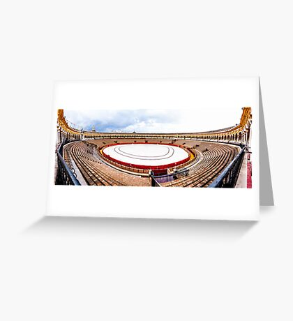 Arena Sevilla panorama, Spain Greeting Card