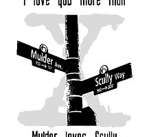I love you more than Mulder loves Scully by Elowrey