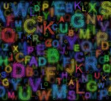 Alphabet colours by Colin Bentham