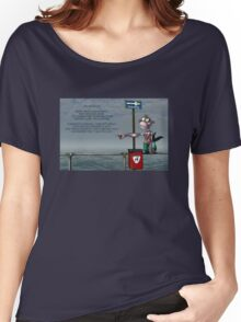 Silly Illustrated Sea Monkey Poem Women's Relaxed Fit T-Shirt
