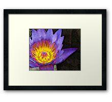 Purple Lotus Flower - Zen Art Painting Framed Print