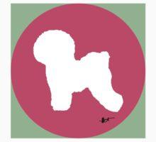 Bichon Frise Silhouette - Azalea Dot by theresatorres