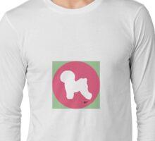 Bichon Frise Silhouette - Azalea Dot Long Sleeve T-Shirt