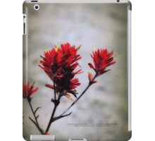 paintbrush wildflowers, Johnston's Ridge 2 iPad Case/Skin