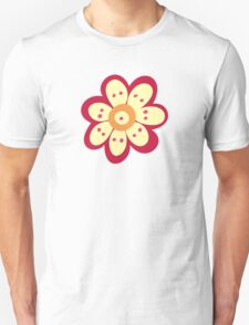 Flowers, Blossoms, Petals - Red Orange Yellow Unisex T-Shirt