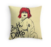Beth Ditto The Gossip Fine Art Illustration Throw Pillow