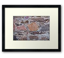 Stone fence Framed Print