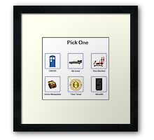 Pick Your Mode Framed Print