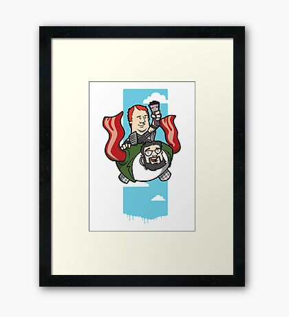 Smith And The Buffy Man On Wings of Swine Framed Print