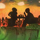 Drinks at sunset by George Hunter