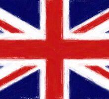 union jack flag art by nadil