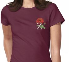 Z is for Zinnia patch Womens Fitted T-Shirt
