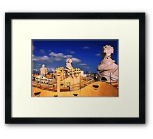 Roof of 'La Padrera' building Framed Print