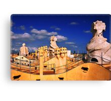 Roof of 'La Padrera' building Canvas Print