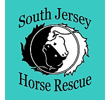 South Jersey Horse Rescue Logo- Teal Photographic Print