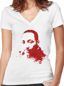 Martin Luther King, Jr. Women's Fitted V-Neck T-Shirt