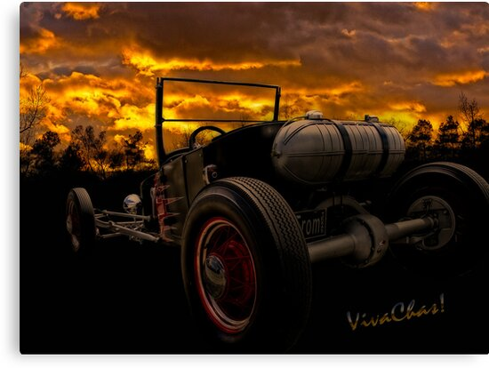 Ford Rat Rod T and a Sundown Destination by ChasSinklier