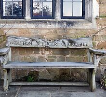 A wooden bench in Chartwell  Kent by Keith Larby