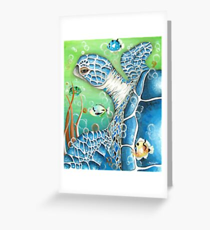 Sea Turtle and Fish Greeting Card