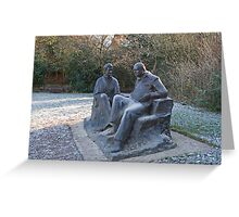Sir Winston Churchill and his wife statue in Chartwell Greeting Card