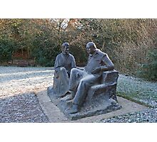 Sir Winston Churchill and his wife statue in Chartwell Photographic Print