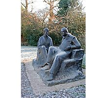 Sir Winston Churchill & his wife statue in Chartwell Photographic Print