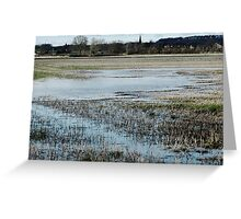 When Earth and Water Collide Greeting Card