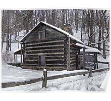 Old Log Cabin Poster
