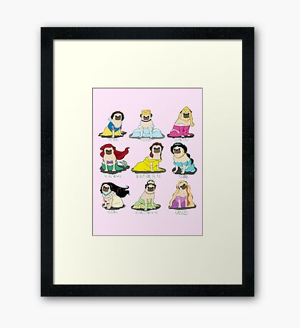 Pug Princesses Framed Print