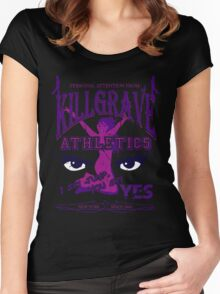 Beaten Black and Purple Women's Fitted Scoop T-Shirt