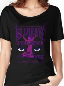 Beaten Black and Purple Women's Relaxed Fit T-Shirt