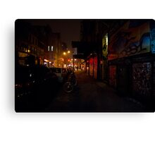 Night - Lower East Side - New York City Canvas Print