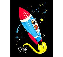 Retro Space Ship Kids Photographic Print