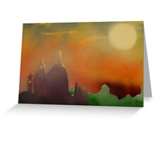 Cathedral in evening sun Greeting Card