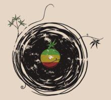 Reggae Music Peace - Vinyl Records Weed Pot - Cool Retro Music DJ T-Shirt by Denis Marsili - DDTK