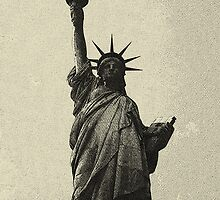 landscape  statue of liberty sketch by Adam Asar