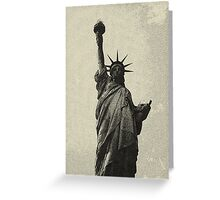 landscape  statue of liberty sketch Greeting Card