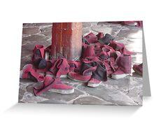 Tibetan Monk Boot Collection Greeting Card