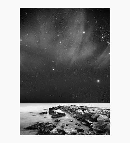 Landscape Stars B&W Photographic Print