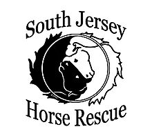 South Jersey Horse Rescue Logo - Black & White Photographic Print