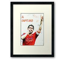"Francesco Totti ""IL Capitano"" ROMA Framed Print"