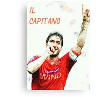 "Francesco Totti ""IL Capitano"" ROMA Canvas Print"