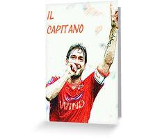 """Francesco Totti """"IL Capitano"""" ROMA Greeting Card"""