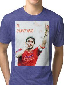"""Francesco Totti """"IL Capitano"""" ROMA Tri-blend T-Shirt"""