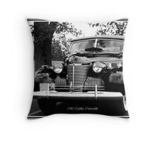 1940 Cadillac Convertible Throw Pillow